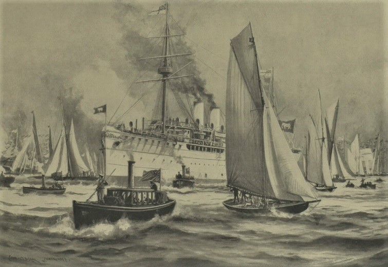 Maha Chakri at Cowes. Image © Illustrated London News Group