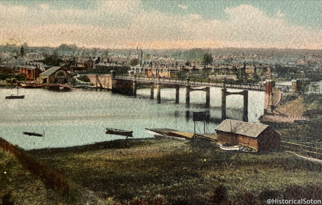 Cobden Bridge, the scene of the battle. From a postcard in my collection.