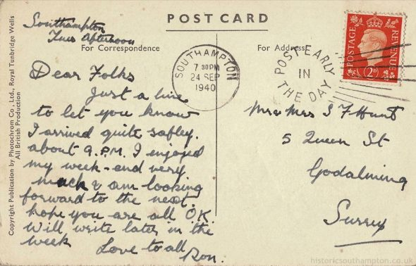 Postcards from the Blitz