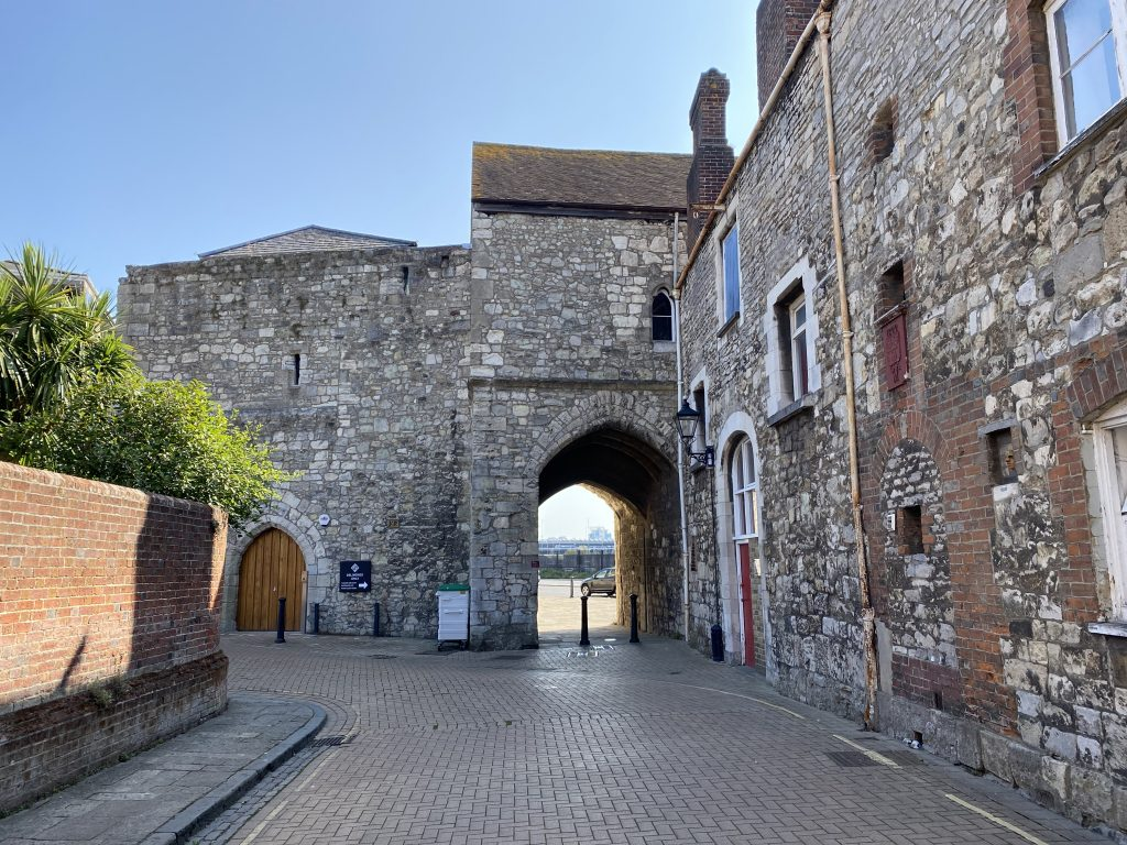 Approaching God's House Gate from Winkle Street, inside the old walled town of Southampton.