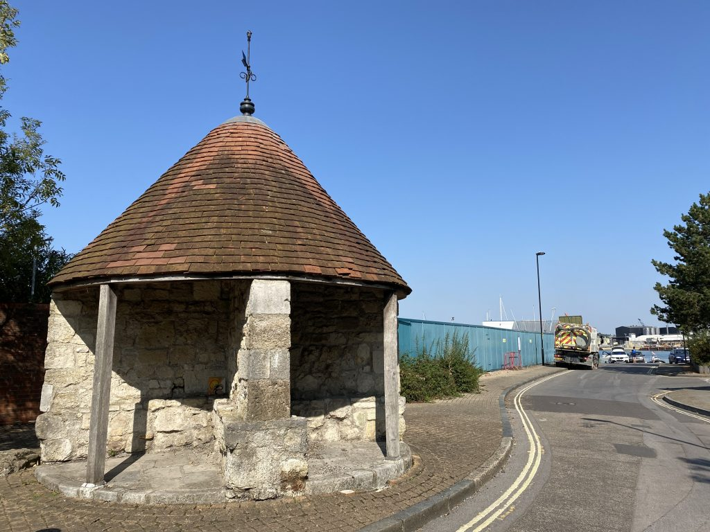 The Cross House as it is today. You can just about see the River Itchen on the right.