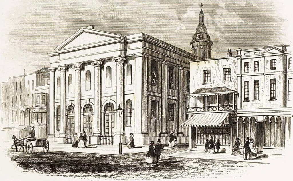 All Saints' Church in 1852. It would have looked the same in Jane's day. Image courtesy of Wikipedia.