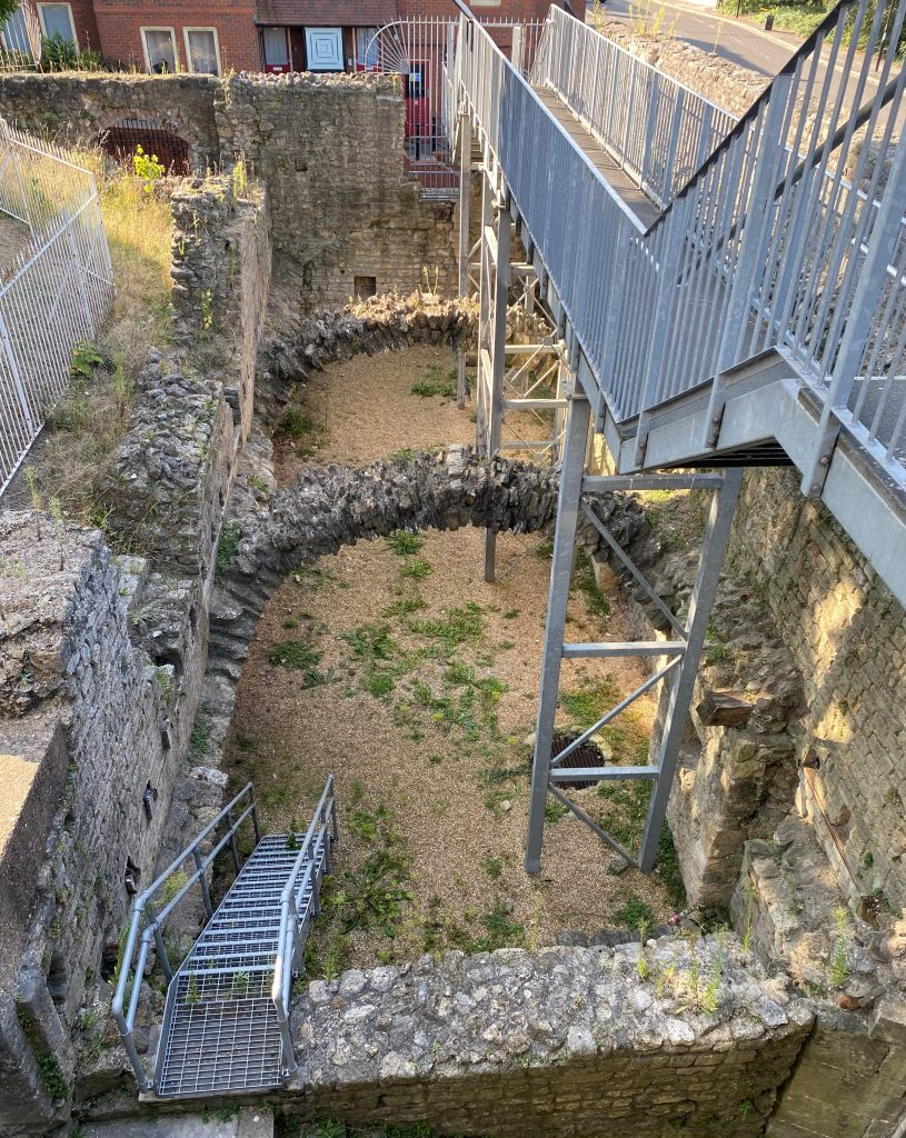 The remains of one of Southampton Castle's twelfth century vaults.