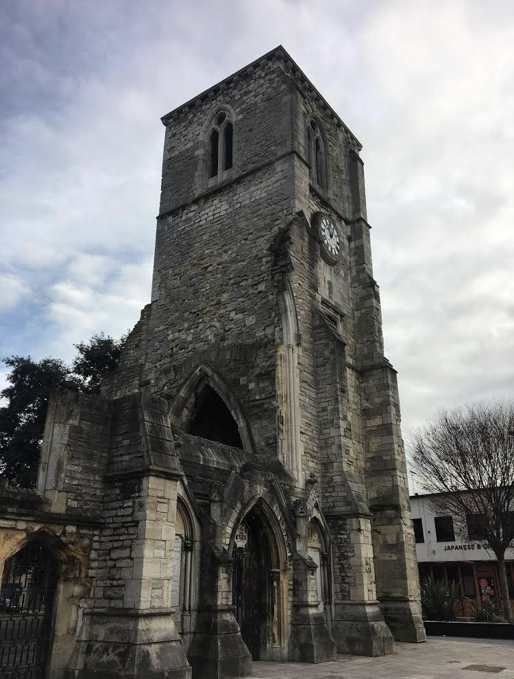 Ruins of Holyrood Church.